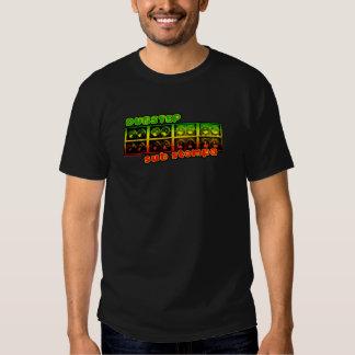 Mens black DUBSTEP REGGAE DUB shirt