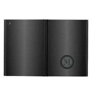 Mens Black Gray Gradient Monogram Powis iPad Air 2 Case