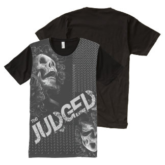 Men's Black Judged Above & Below  Skull  T- Shirt