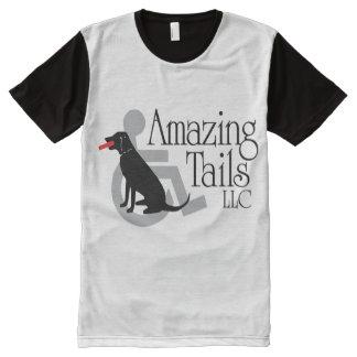 Men's Black & White T-shirt All-Over Print T-Shirt
