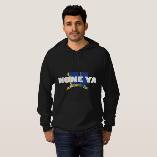 Men's Blk None Ya University Hoodie