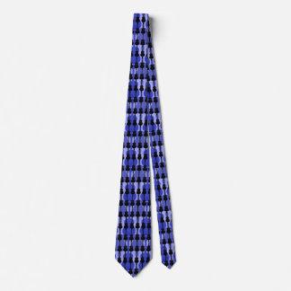 Men's Blue And Black Guitars Tie