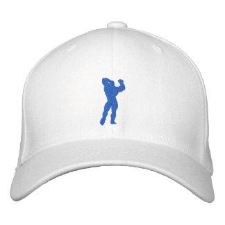 Mens Bodybuilding Pose Embroidered Baseball Caps