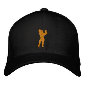 Mens Bodybuilding Pose Embroidered Cap