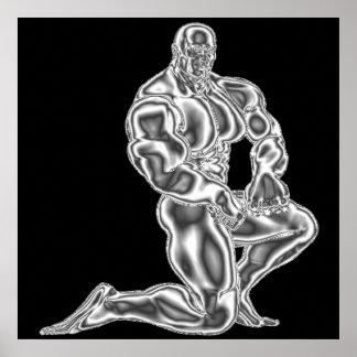 Mens Bodybuilding Pose Poster