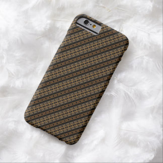 Men's Brown Diagonal Tweed Pattern iPhone 6 Case Barely There iPhone 6 Case