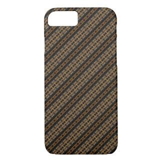 Men's Brown Diagonal Tweed Pattern iPhone 7 Case