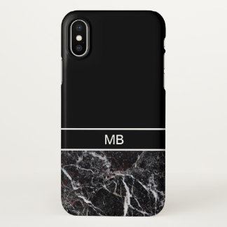 Men's Business Professional Monogram iPhone X Case