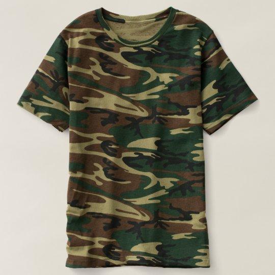 Men's Camouflage T-Shirt, Green Woodland