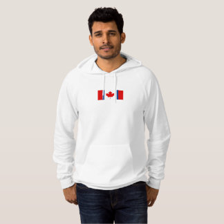 Mens Canadian Duality Flag Hoodie