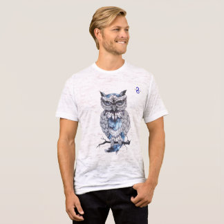 Men's Canvas Fitted Burnout Owl T-Shirt
