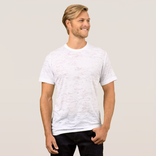 Canvas Fitted Burnout T-Shirt, Vintage White