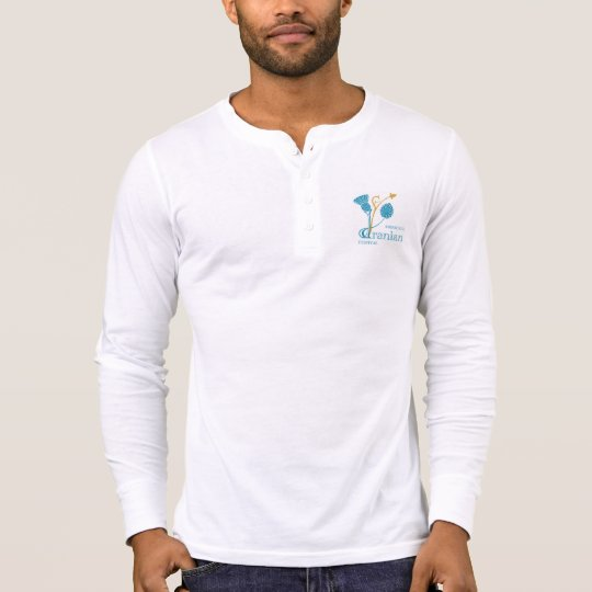 Men's Canvas Henley Long Sleeve Shirt, W - EIF D&L T-Shirt