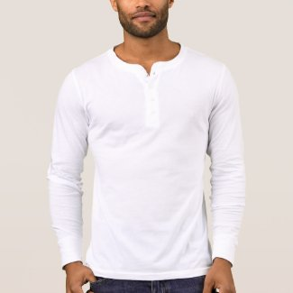 Men's Canvas Henley Long Sleeve Shirt, White