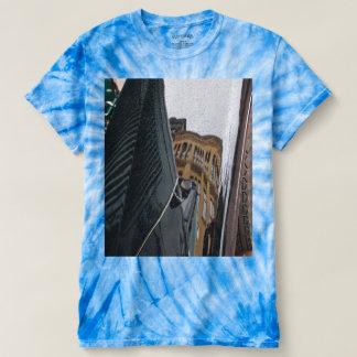 Men's car reflection tie-dye t-shirt