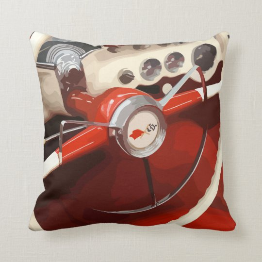 Men's Classic Car Throw Pillows