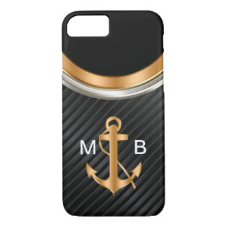 Mens Classy Nautical Monogram Anchor iPhone 8/7 Case