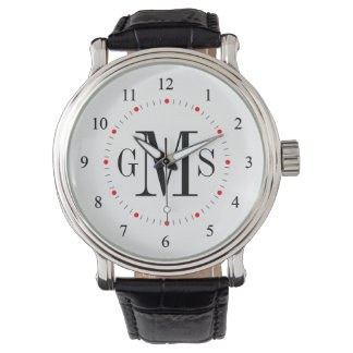 Men's Classy Personalised Monogram Watch