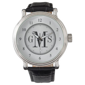 Men's Classy Personalized Monogram Watch