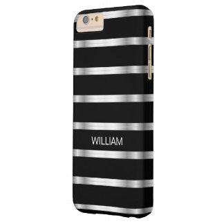 Men's Classy Silver Monogram Barely There iPhone 6 Plus Case