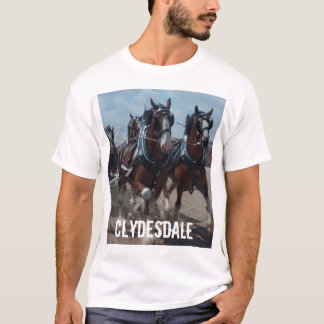 Mens Clydesdale horse T-Shirt