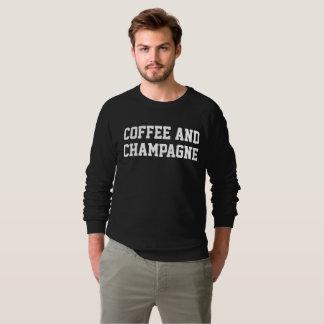 Men's Coffee And Champagne Black Sweatshirt