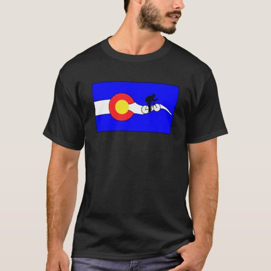 Men's Colorado flag bike t-shirt