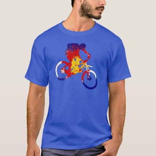 Men's Colorado flag mountain biker T-Shirt