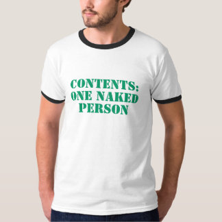 Men's Contents One Naked Person Ringer T-Shirt