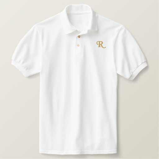 Mens Cool Custom Embroidered Monogram Polo Shirt