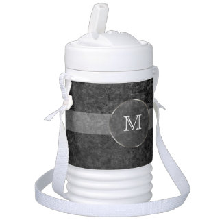 Men's Cool Monogram Grunge Background Drinks Cooler