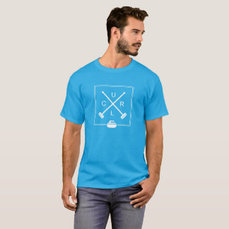 Men's Crossed Brooms Curling T-Shirt