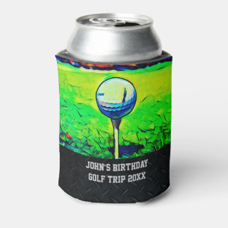 Men's Custom Golfing Birthday Favors Golf Trip Can Cooler