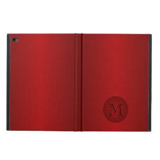 Mens Dark Red Gradient Monogram iPad Air 2 Case