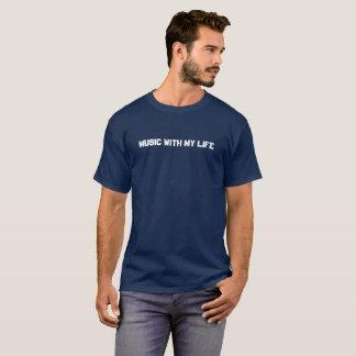 Men's Dark T-Shirt - Music With My Life
