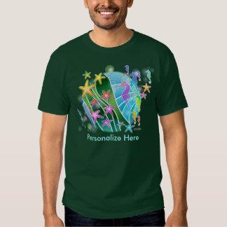 Men's Dark T-shirts - Under the Sea Pop Art