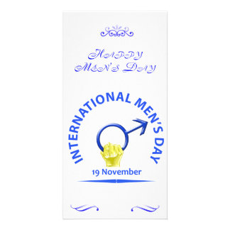 Men's Day Greeting Card Customised Photo Card