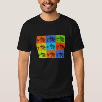 Mens double sided skeletal fish shirt design