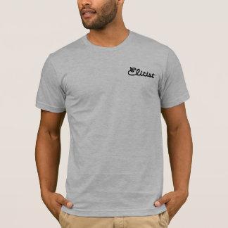 Men's Elitist Polo Shirt: Small Logo (black/gray)
