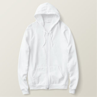 Men's Embroidered American Apparel Zip Hoodie