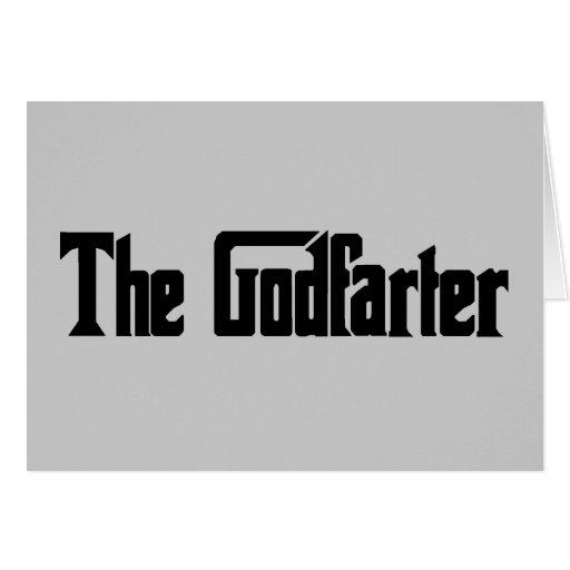 """Men's Fart Humor Gifts """"The Godfarter"""" Greeting Cards"""