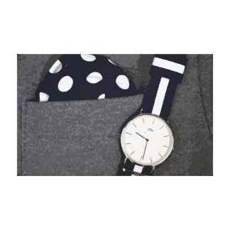 Men's Fashion Canvas with Wristwatch and more