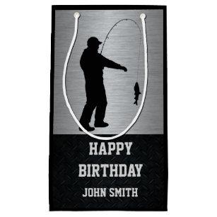 Mens Fishing Themed Happy Birthday Gift Bag