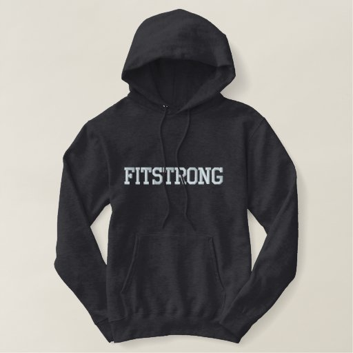 "Men's ""FITSTRONG"" Embroidered Pullover Hoodie"