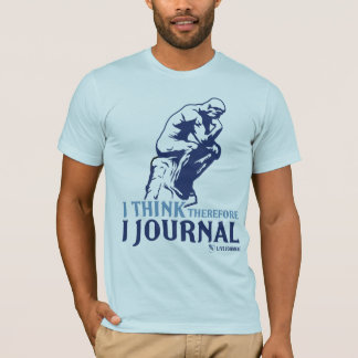 Men's Fitted T (I Think, Therefore I Journal) T-Shirt