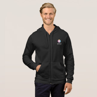 Men's fleece jacket in black