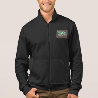 men's fleece spangleMASSIVE logo Jacket