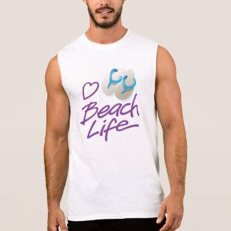 Men's Flip Flops graphic Beach Life Sleeveless T Sleeveless Shirt