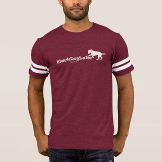 Mens Football V-Neck Shirt BlackDogLuke Logo