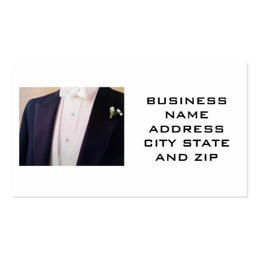 MEN'S FORMAL WEAR BUSINES CARD BUSINESS CARD TEMPLATE